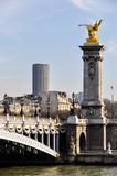 Pont Alexandre III and Montparnasse Tower Royalty Free Stock Image