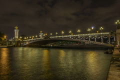 Pont Alexandre III at night Royalty Free Stock Photography