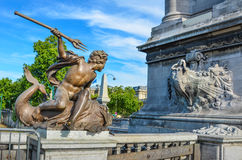 Pont Alexandre III is an ornate bridge that spans the Seine Stock Images