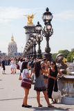 Pont Alexandre III over the Seine in Paris, France Stock Photography