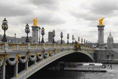 Pont Alexandre III a Parigi fotografia stock libera da diritti