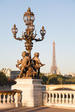 Pont Alexandre III, Parigi, Francia Immagini Stock Libere da Diritti