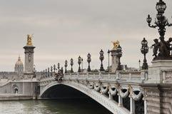Pont Alexandre III in Parijs Stock Foto
