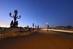 Pont Alexandre III in Parijs stock foto's