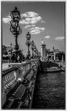 Pont Alexandre III in Paris Stockfotos