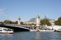 Pont Alexandre III. In Paris Stock Photos