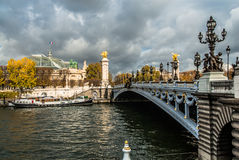 Pont Alexandre III  paris city France Royalty Free Stock Photography