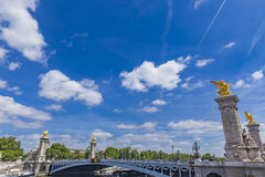 Pont Alexandre III in Paris. Detail of the Pont Alexandre III in Paris, France Royalty Free Stock Photography