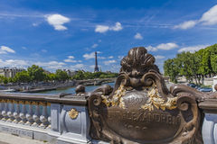 Pont Alexandre III in Paris. Detail of the Pont Alexandre III in Paris, France Royalty Free Stock Images
