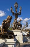 Pont Alexandre III, Paris, France Stock Images