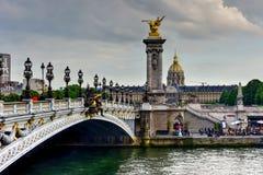 Pont Alexandre III - Paris, France Stock Photos
