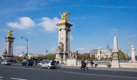The Pont Alexandre III, Paris, France Stock Images