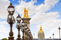 Pont Alexandre III in Paris France over Seine Royalty Free Stock Photo