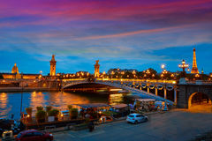 Pont Alexandre III in Paris France over Seine Royalty Free Stock Photos
