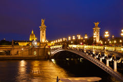 Pont Alexandre III in Paris France over Seine Stock Photography
