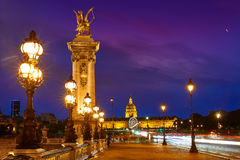 Pont Alexandre III in Paris France over Seine Stock Images