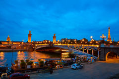 Pont Alexandre III in Paris France over Seine Royalty Free Stock Photography
