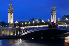 Pont Alexandre III in Paris Royalty Free Stock Photos