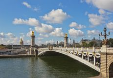 Pont Alexandre III in Paris, France Stock Photo