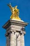 Pont Alexandre III, Paris, Frankreich lizenzfreie stockfotos