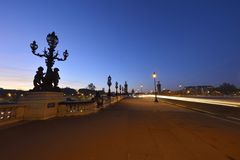 Pont Alexandre III in Paris stock photos