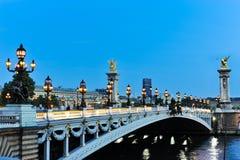 The Pont Alexandre III Stock Photo