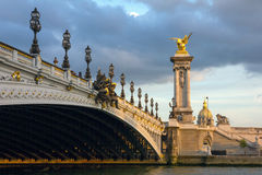 Pont Alexandre III at twilight Royalty Free Stock Photo