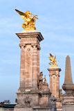 Pont Alexandre iii w Paryż Obraz Royalty Free