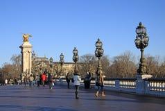 Pont Alexandre lll in Parijs, Frankrijk Royalty-vrije Stock Foto