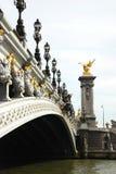 Pont alexandre, Parijs Stock Foto