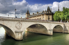Pont au Change. Royalty Free Stock Images