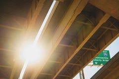 Pont au coucher du soleil à Pittsburgh Photographie stock libre de droits