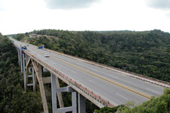 Pont au Cuba Photographie stock