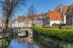 Pont au-dessus d'un canal à Amersfoort Photographie stock