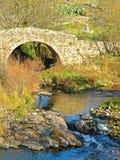 Pont au-dessus d'une rivière de montagne photos stock