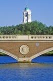 Pont au-dessus de Charles River, Cambridge, le Massachusetts photos libres de droits