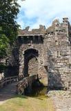 Pont au-dessus de fossé de château Photographie stock libre de droits