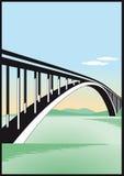 Pont au-dessus de l'eau Photographie stock