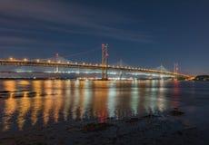 Pont au-dessus de l'océan en Ecosse Photo stock