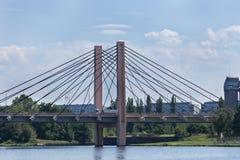 Pont au-dessus de l'Oder Wroclaw Photographie stock libre de droits