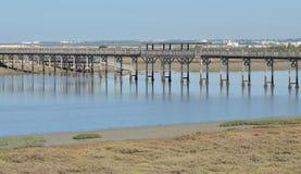 Pont au-dessus de la rivière Image stock