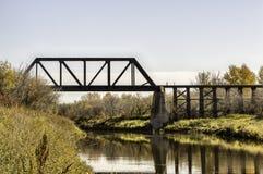 Pont au-dessus de la rivière de bataille Photo stock