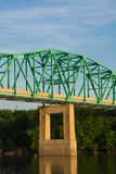 Pont au-dessus de la rivière de l'Illinois Photographie stock libre de droits