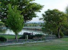 Pont au-dessus de la rivière Snake, Burley Idaho images libres de droits