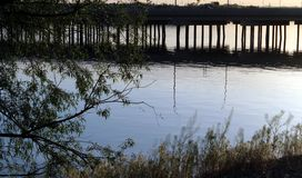Pont au-dessus de la rivière Snake, Burley Idaho images stock