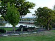 Pont au-dessus de la rivière Snake, Burley Idaho photos libres de droits