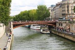 Pont au-dessus de la Seine, Paris Images libres de droits