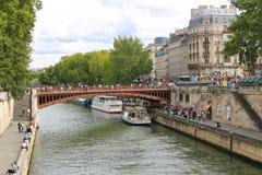 Pont au-dessus de la Seine, Paris Image stock
