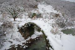 Pont au-dessus de rivière de Basla Photographie stock