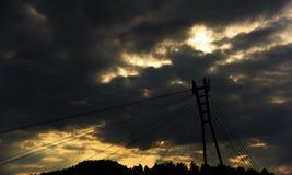 Pont au-dessus de rivière Dunajec Image libre de droits